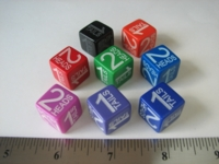 Dice : d6 16mm Chessex heads tails
