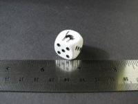 Dice : d6 16mm black cat
