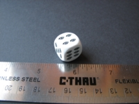 Dice : d6 16mm eye pips
