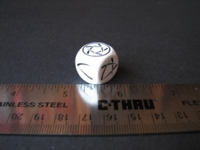 Dice : d6 16mm pentagram lines