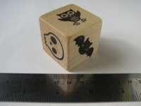 Dice : d6 1p5inch wood Halloween storytell