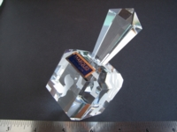 Dice : dreidel crystal Waterford Marquis
