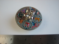 Dice : dreidel metal beaded