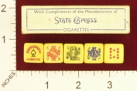 Dice : MINT21 STATE EXPRESS CIGARETTES