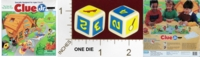 Dice : MINT22 PARKER BROTHERS CLUE JR THE CASE OF THE HIDDEN TOYS 01