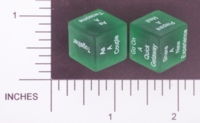 Dice : NON NUMBERED TRANSLUCENT ROUNDED SOLID DESTINY DICE RELATIONSHIP 01