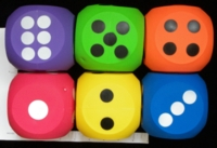 Dice : FOAM UNKNOWN INFLATED RUBBER SPECTRUM DICE 01