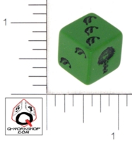 Dice : D6 OPAQUE ROUNDED SOLID Q WORKSHOP LEAF 01