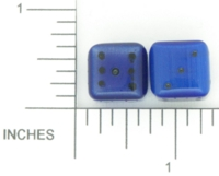 Dice : STONE D6 OCONEE MINERALS FIBER OPTIC GLASS BLUE 02