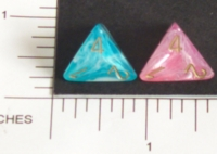 Dice : D4 OPAQUE ROUNDED IRIDESCENT CHESSEX EASTER