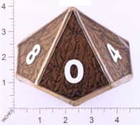 Dice : LOOSE GLASS CREATIONS STAINED GLASS D10 01