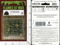 Dice : MINT28 FLAMES OF WAR VE004 1ST CAVALRY DIVISION AIRMOBILE DICE 01