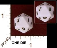 Dice : D20 OPAQUE ROUNDED SOLID CHESSEX CUSTOM FOR JON DAHLBERG 01