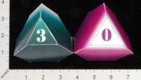 Dice : PAPER D04 OVERSOUL GAMES CYBER CLASH 01