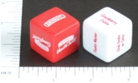 Dice : NON NUMBERED OPAQUE ROUNDED SOLID SMIRNOFF