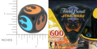 Dice : NON NUMBERED OPAQUE ROUNDED SOLID PARKER BROTHERS TRIVIAL PURSUIT BITE SIZE STAR WARS 01