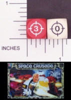 Dice : NON NUMBERED OPAQUE ROUNDED SOLID WHITE SPACE CRUSADE 01