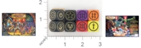 Dice : NON NUMBERED OPAQUE ROUNDED SOLID PARKER BROTHERS DUNGEONS AND DRAGONS BOARD GAME 01 01