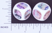 Dice : NON NUMBERED OPAQUE ROUNDED SOLID WHITE CURRENCY GERMANY 01