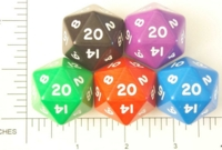 Dice : D20 OPAQUE ROUNDED SOLID JUMBO