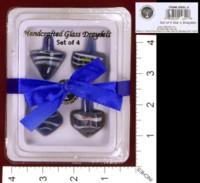 Dice : MINT33 RITE LITE LTD HANDCRAFTED GLASS DRAYDELS DREIDELS 01