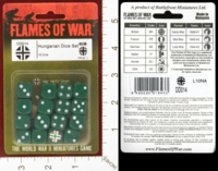 Dice : MINT26 FLAMES OF WAR DD014 HUNGARIAN DICE 01