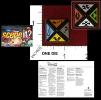 Dice : D8 OPAQUE ROUNDED SOLID MATTEL DISNEY SCENE IT 01