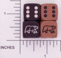 Dice : D6 OPAQUE ROUNDED SOLID KOPLOW 02