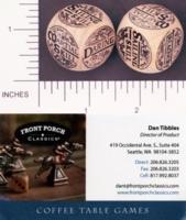 Dice : WOOD FRONT PORCH CLASSICS LEAGUE OF PIRATES 01