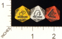 Dice : D8 OPAQUE ROUNDED SPECKLED CHESSEX CUSTOM FOR RPGSHOP D AND D 4E ABILITY 01