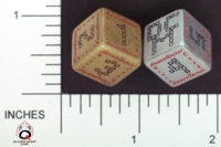 Dice : NUMBERED OPAQUE ROUNDED SOLID Q WORKSHOP DICE MANIACS CLUB 01
