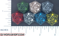 Dice : D20 OPAQUE ROUND SOLID Q WORKSHOP SKULLY 01