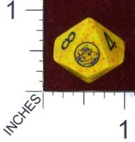 Dice : D10 OPAQUE ROUNDED SPECKLED ON THE LAMB BRUSHFIRE