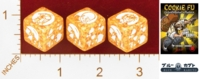 Dice : MINT25 BLUE KABUTO COOKIE FU FORTUNE CHARACTER DIE COCONUT MONKEY 01