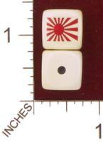 Dice : MINT29 YAK YAKS IMPERIAL JAPANESE FLAG 01