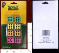 Dice : MINT30 OFFICE MAX NOVELTY ERASERS 01