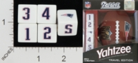 Dice : NUMBERED OPAQUE ROUNDED SOLID USAOPOLY NEW ENGLAND PATRIOTS YAHTZEE 01