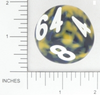 Dice : NON NUMBERED OPAQUE SHARP SPECKLED BGSHOP DOUBLING 02