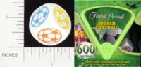 Dice : NON NUMBERED OPAQUE ROUNDED SOLID PARKER BROTHERS TRIVIAL PURSUIT BITE SIZE WORLD FOOTBALL 01