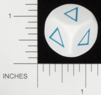 Dice : NON NUMBERED OPAQUE ROUNDED SOLID KOPLOW TRIANGLE SHAPES 01