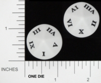 Dice : D10 OPAQUE ROUNDED SOLID KOPLOW ROMAN NUMERALS 01