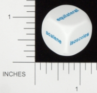 Dice : NON NUMBERED OPAQUE ROUNDED SOLID KOPLOW TRIANGLE WORDS 01