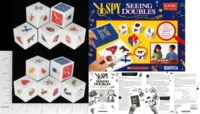 Dice : NON NUMBERED OPAQUE ROUNDED SOLID BRIARPATCH I SPY SEEING DOUBLE 01