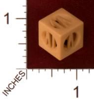 Dice : MINT30 SHAPEWAYS 2D3DME DICE 1 ROMAN NUMERALS 01