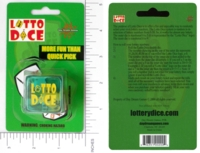 Dice : MINT14 DAYDREAMGAMES DOT COM 01 LOTTO DICE