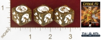Dice : MINT25 BLUE KABUTO COOKIE FU FORTUNE CHARACTER DIE CHOCOLATE OX 01