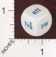 Dice : MINT19 KOPLOW SWEDISH WORDS FOR NUMBERS 02