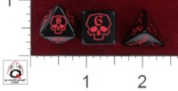 Dice : MINT38 Q WORKSHOP CUSTOM FOR GALILEO GAMES RED SKULLS
