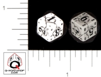 Dice : NUMBERED OPAQUE ROUNDED SOLID Q WORKSHOP 2007 DICE DESIGN CONTEST WINNER 01