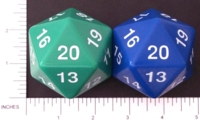Dice : D20 OPAQUE ROUNDED SOLID HUGE 3